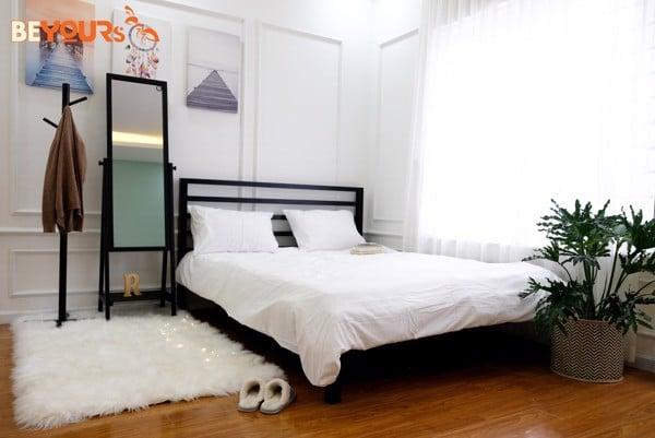 Giường ngủ gỗ giá rẻ Nan Simple