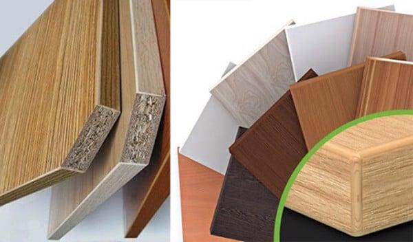 Chất liệu tủ có thể làm từ gỗ tự nhiên hay gỗ công nghiệp