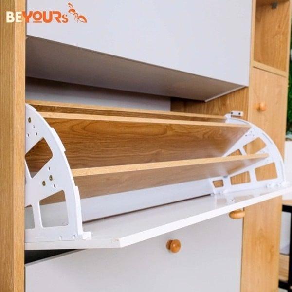 Tủ giày thông minh với thiết kế cánh lật hình rẻ quạt