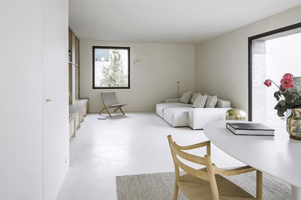 Màu sơn tường màu trắng là lựa chọn phổ biến của phong cách nội thất Minimalism