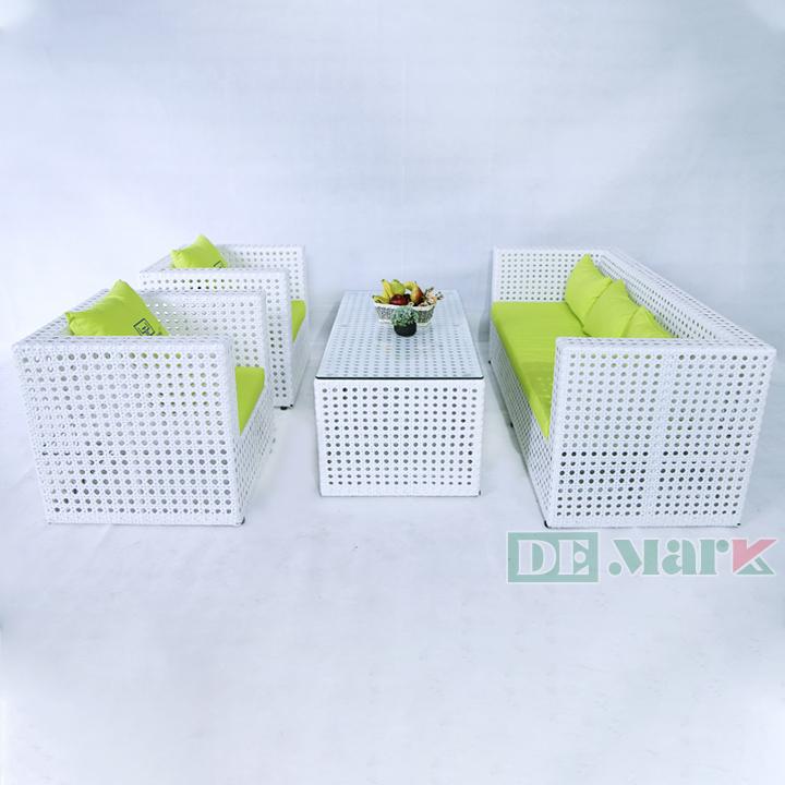 Bàn Ghế Sofa Mây Nhựa DEM1A11