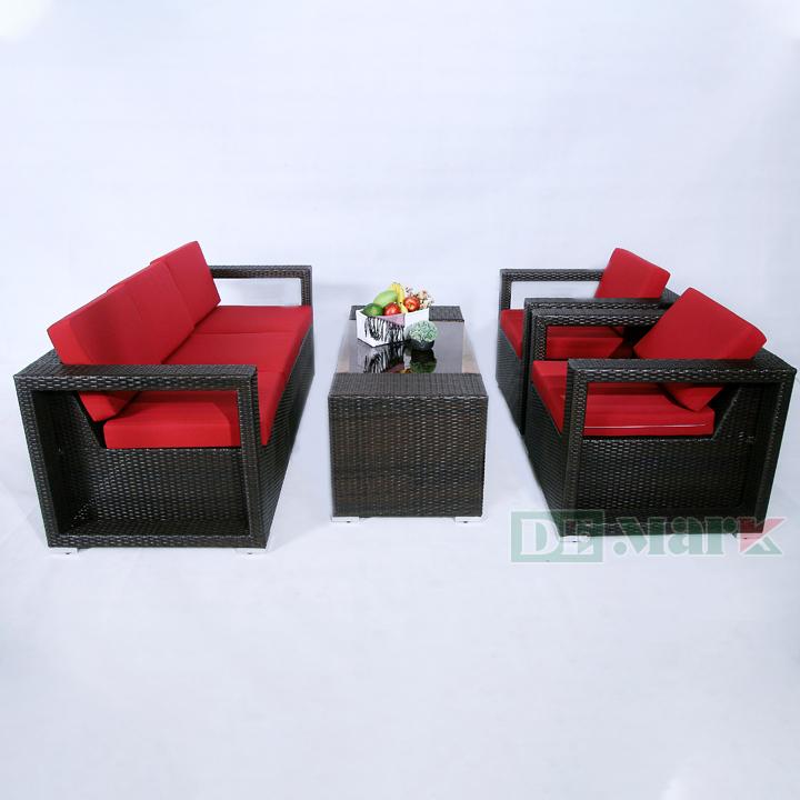 Bộ Sofa Nhựa Giả Mây DEM109