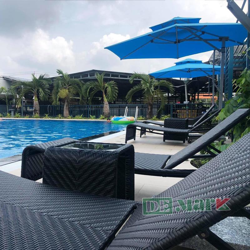 Giường Nằm Bể Bơi DEM441