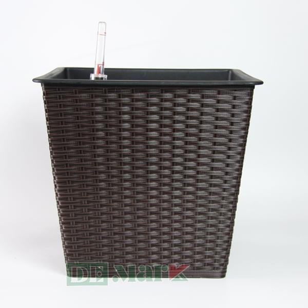 Chậu Trồng Cây Tự Dưỡng Nhựa Đan Vuông – NV34