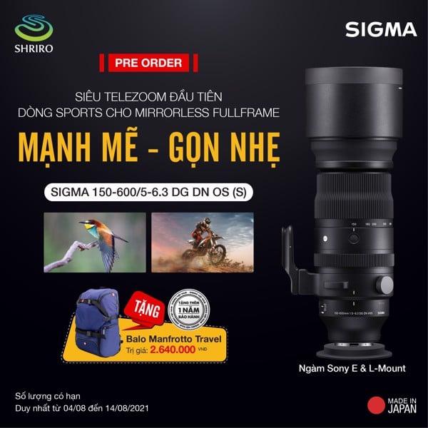 Sigma 150-600 F5-6.3 DG DN OS Sports