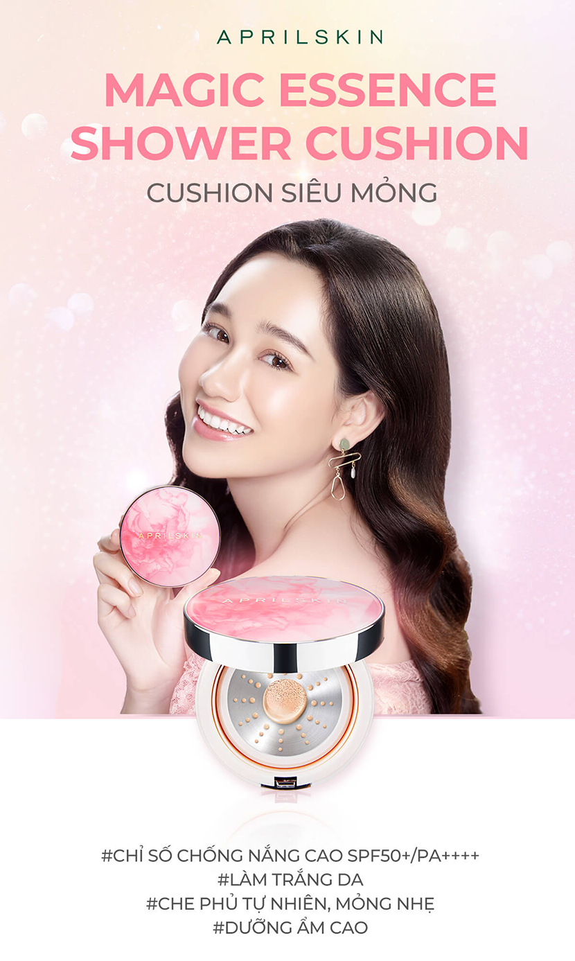 Phấn nước Aprilskin Magic Essence Shower Cushion