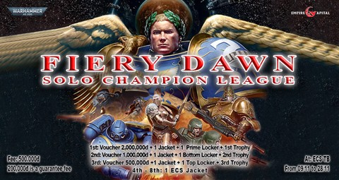 🗡 WARHAMMER 40,000 - FIERY DAWN SOLO CHAMPION LEAGUE 🗡 (FINISHED)