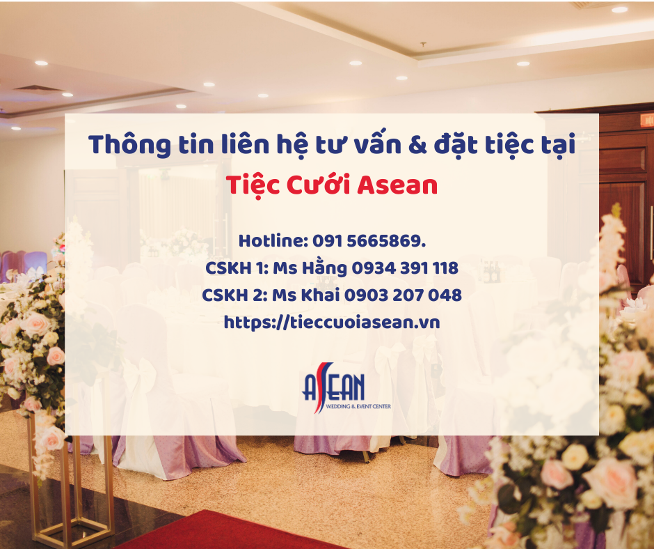 Thông tin liên hệ đặt tiệc trên Hệ thống Tiệc cưới và Sự kiện Asean