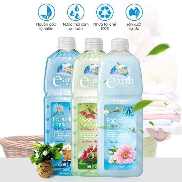nước giặt gốc thực vật Earth choice