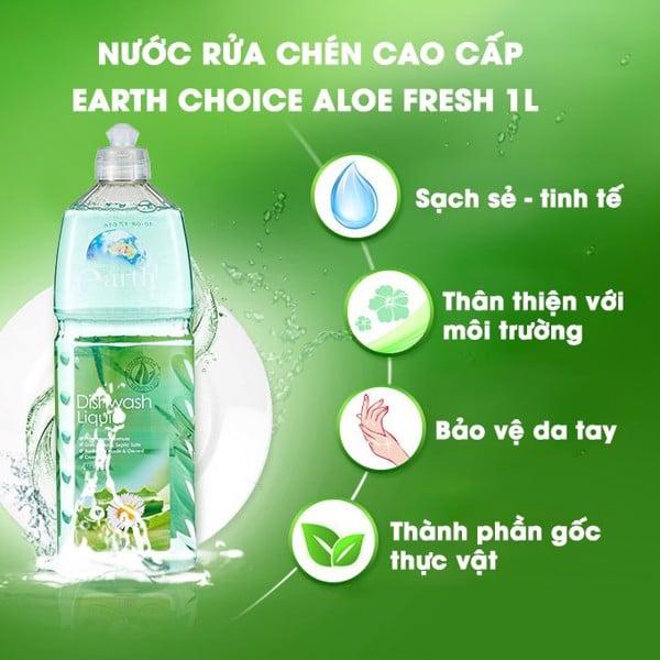 Nước rửa bình sữa Earth Choice với thành phần từ thực vật