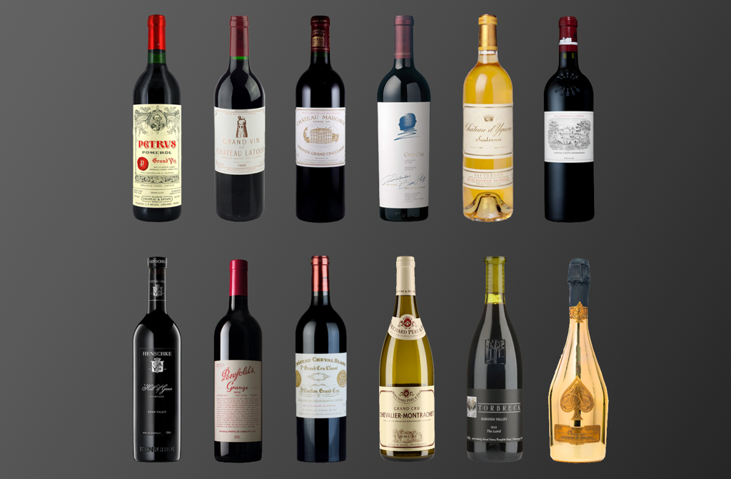 12 expensive bottle of wine