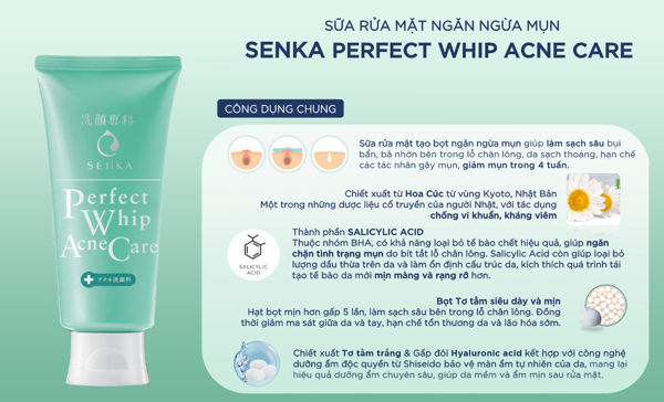Senka Whip Acne Care 100g
