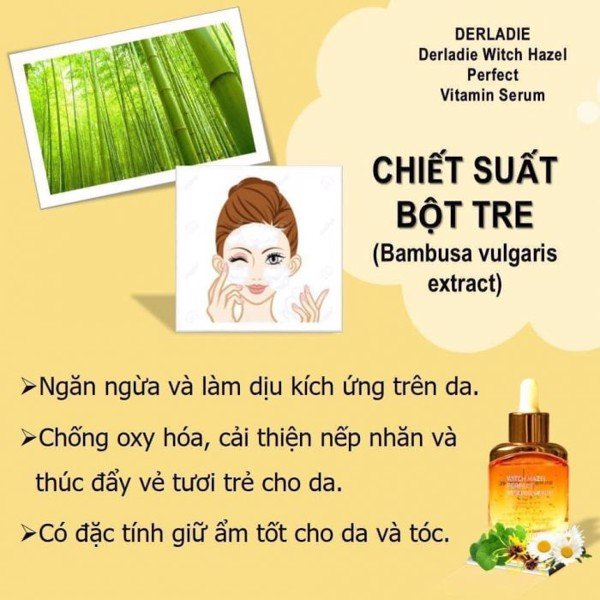 Serum Mụn Derladie Witch Hazel Perfect Vitamin Serum 35ml (Vàng)