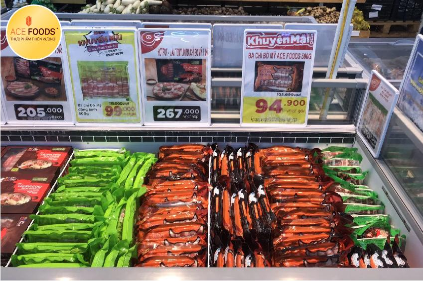 Giá thịt bò Mỹ tại siêu thị hệ thống siêu thị Big C