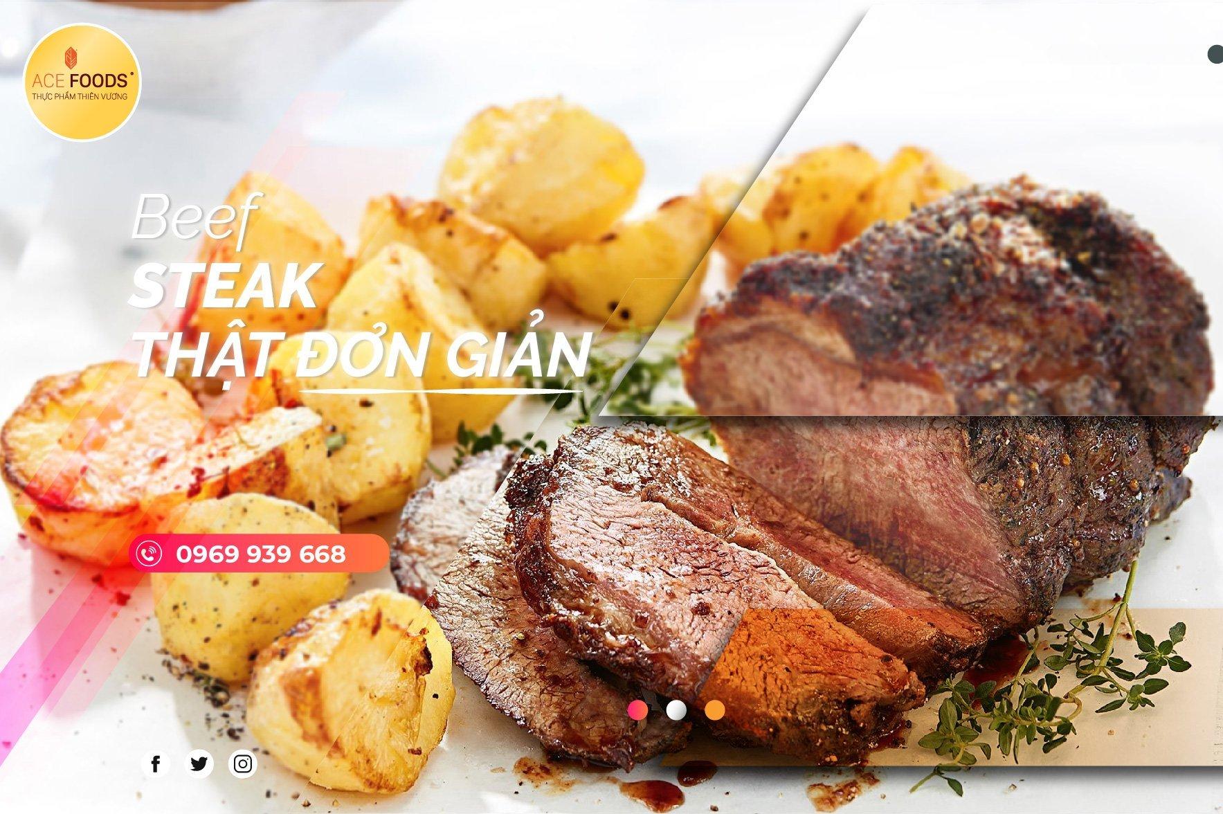 Bò bít tết ngon hơn khi ăn kèm khoai tây và thưởng thức cùng rượu vang