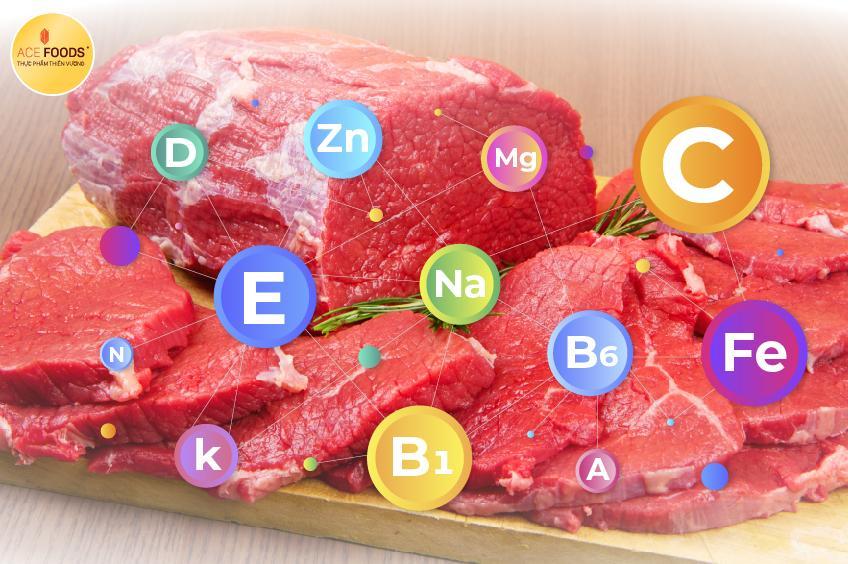 Thịt bò Mỹ chứa nhiều giá trị dinh dưỡng tốt cho sức khỏe