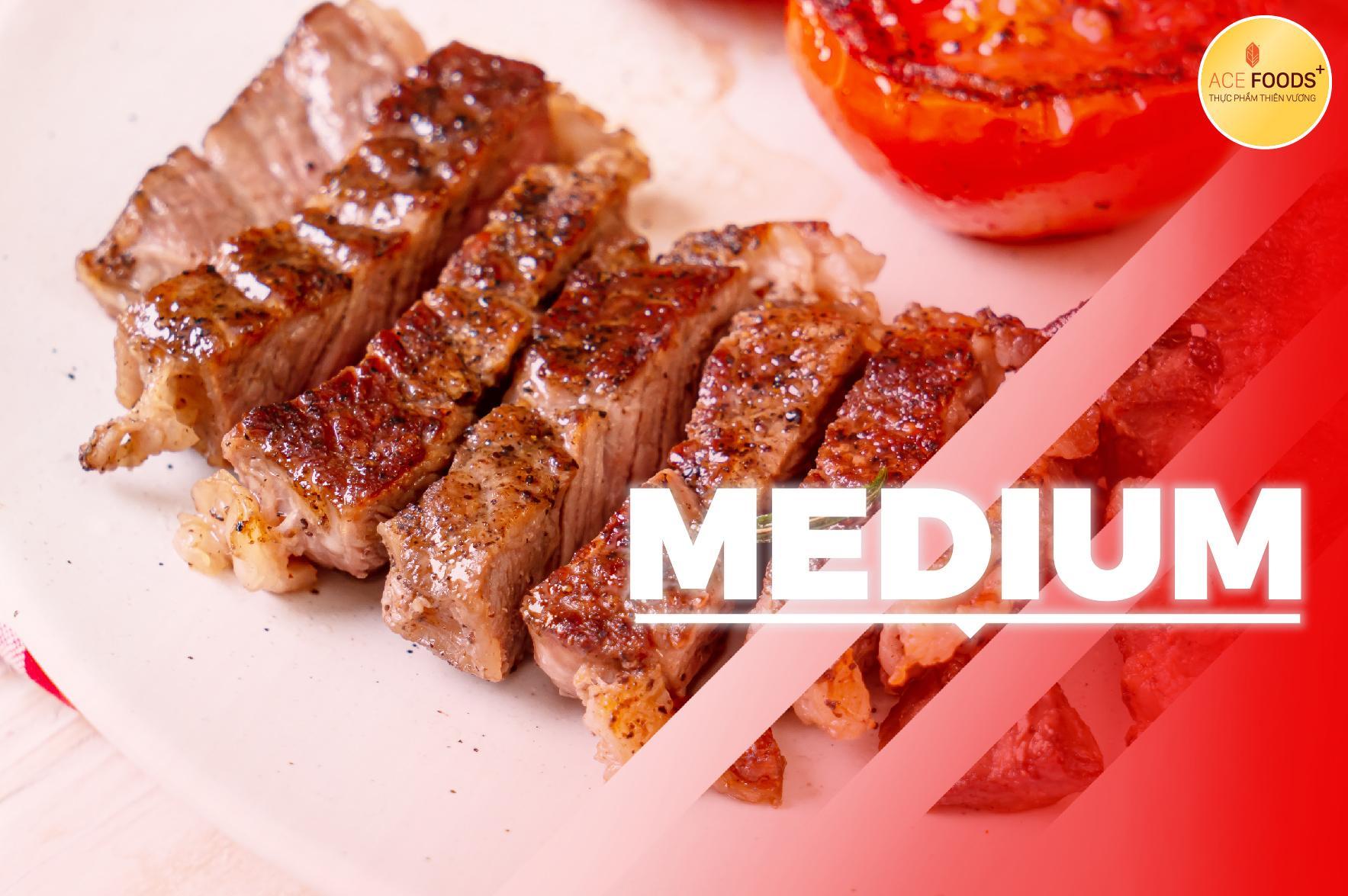 Medium là mức độ chín phù hợp cho người mới lần đầu ăn beefsteak