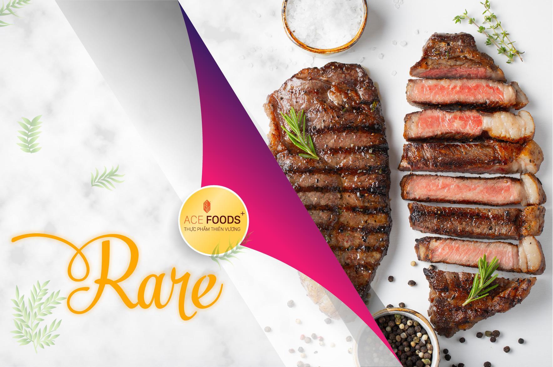Tỉ lệ thịt bò chín ở mức độ Rare là 25%