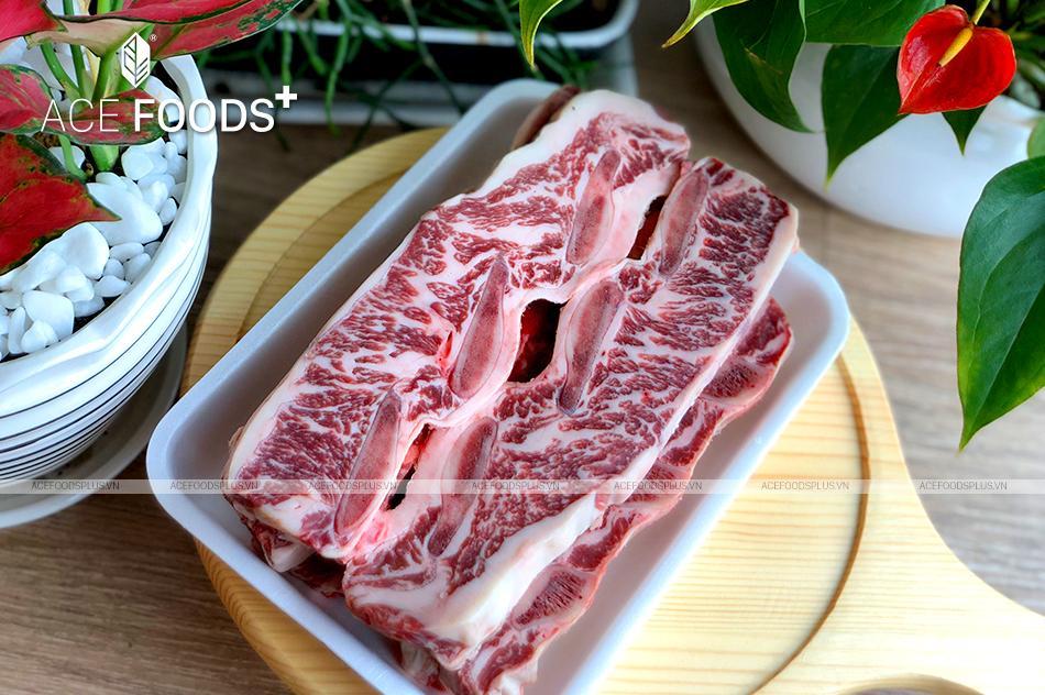 Sườn bò Mỹ có xương nướng BBQ