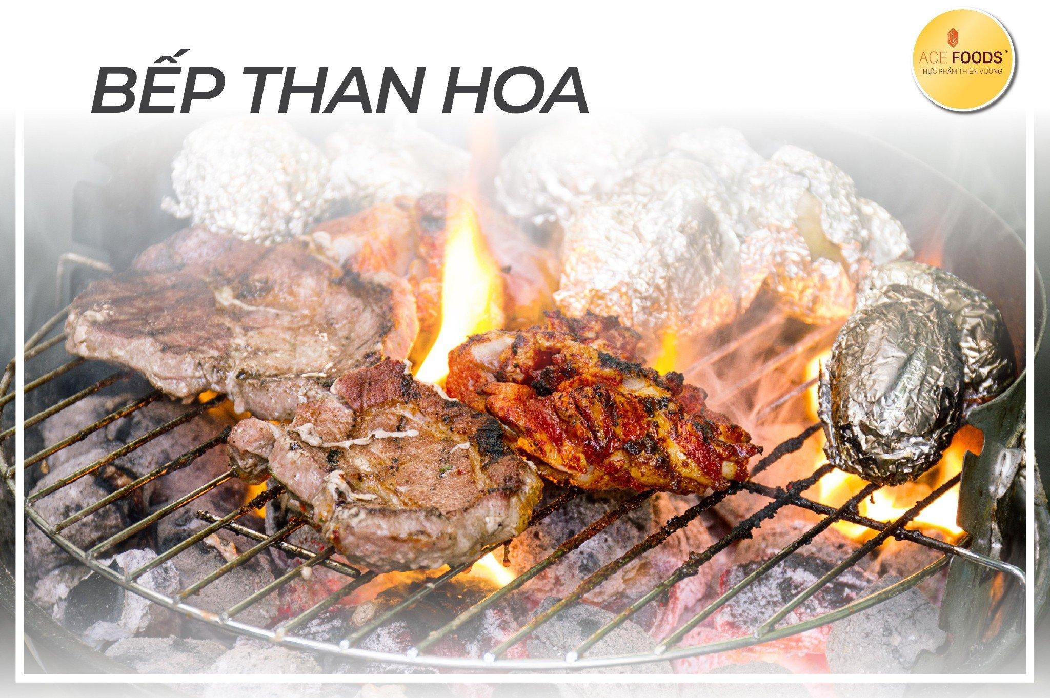 Nên dùng bếp than hoa cho bữa tiệc BBQ lớn của cả gia đình