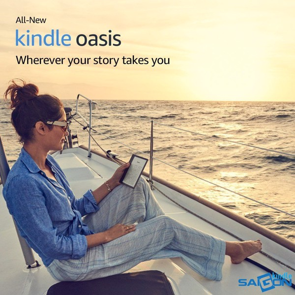 May doc sach Kindle Oasis 2018 8GB
