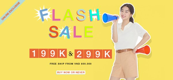 Online Exclusive | Flash Sale đồng giá 199k 299k
