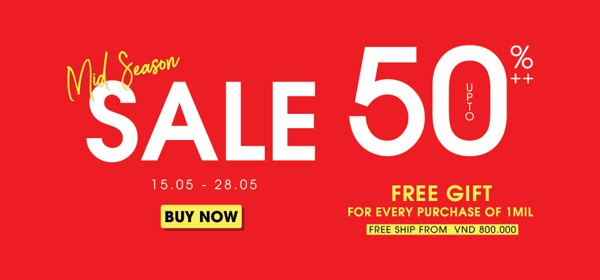 Mid Season Sale 50%++