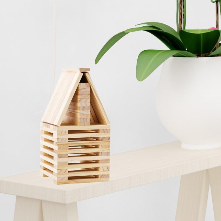 Bộ xếp hình gỗ
