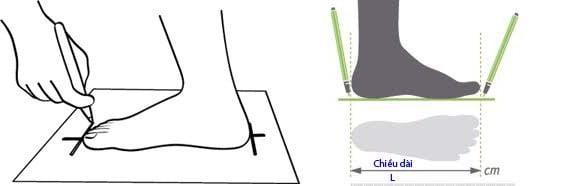 cách chọn size dép sandal