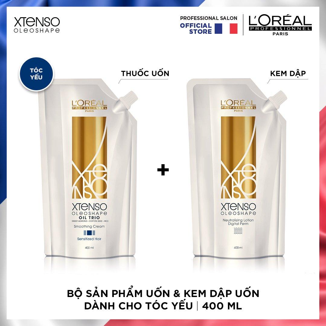 Bộ sản phẩm uốn & kem dập uốn dành cho tóc yếu XTENSO OLEOSHAPE