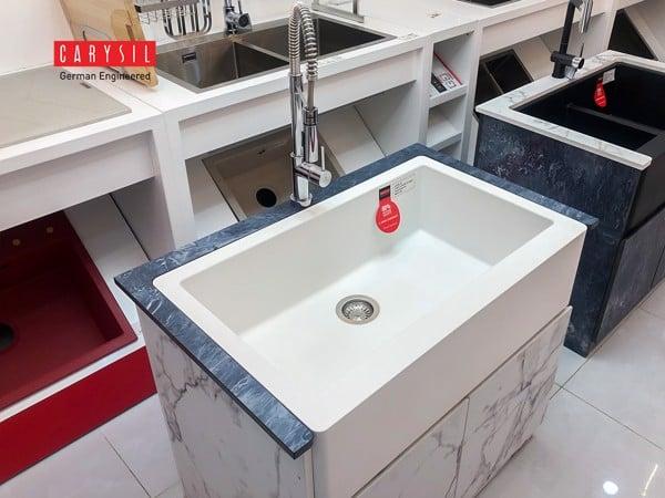 Khám Phá 2 Mẫu Chậu Đá Granite Apron Carysil - Phong Cách Farmhouse - Apron Sink