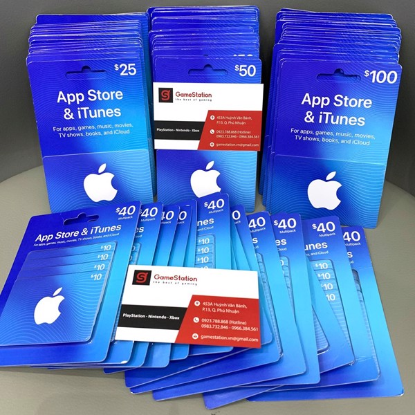 Thẻ iTunes Gift Cards tại GameStation.vn