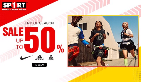 END OF SEASON - SALE UP TO 50% NIKE, ADIDAS, AM