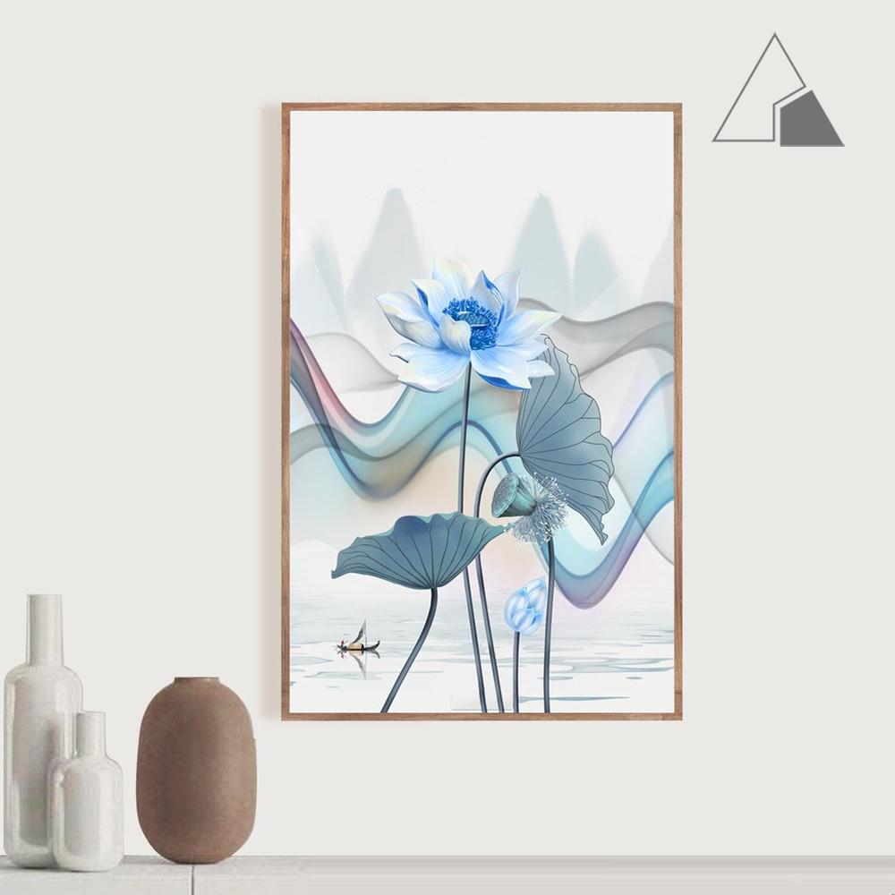 Tranh-canvas-hoa-sen-xanh