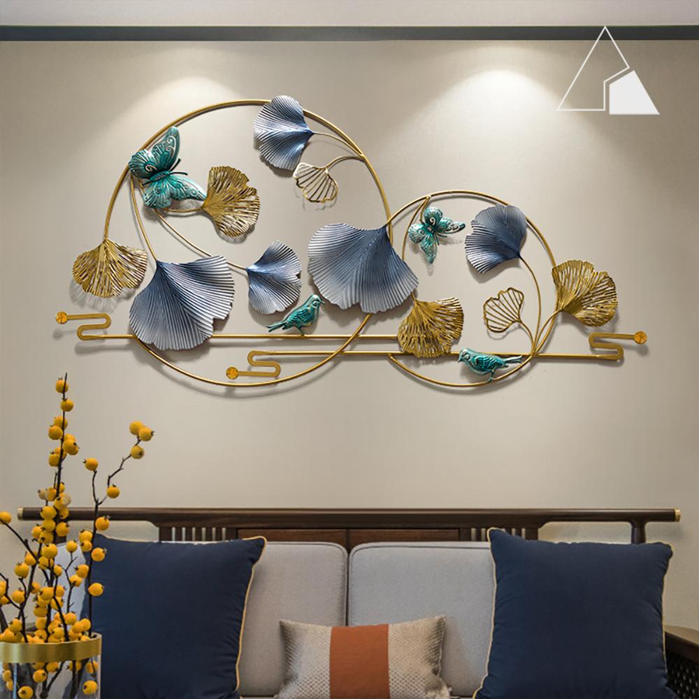 Tranh-sắt-lá-ginkgo-vòng-tròn-decor-treo-tường