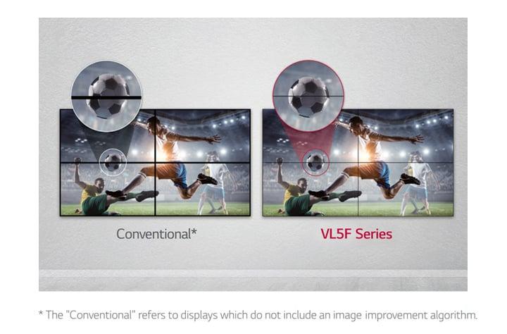 Màn hình ghép 55VL5F giúp giảm khoảng cách hình ảnh