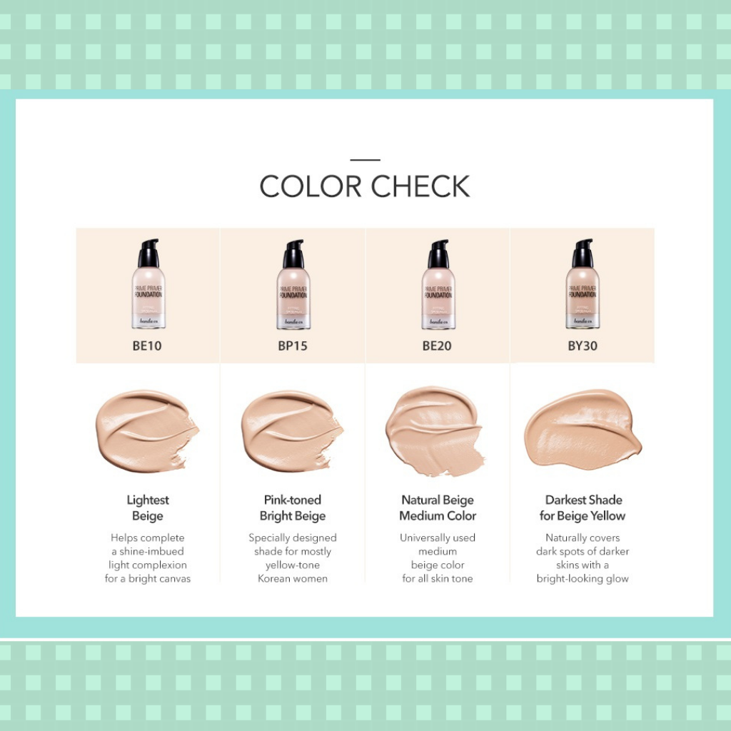 Swatch kem nền Banila Co Prime Primer Fitting Foundation Beauty Box