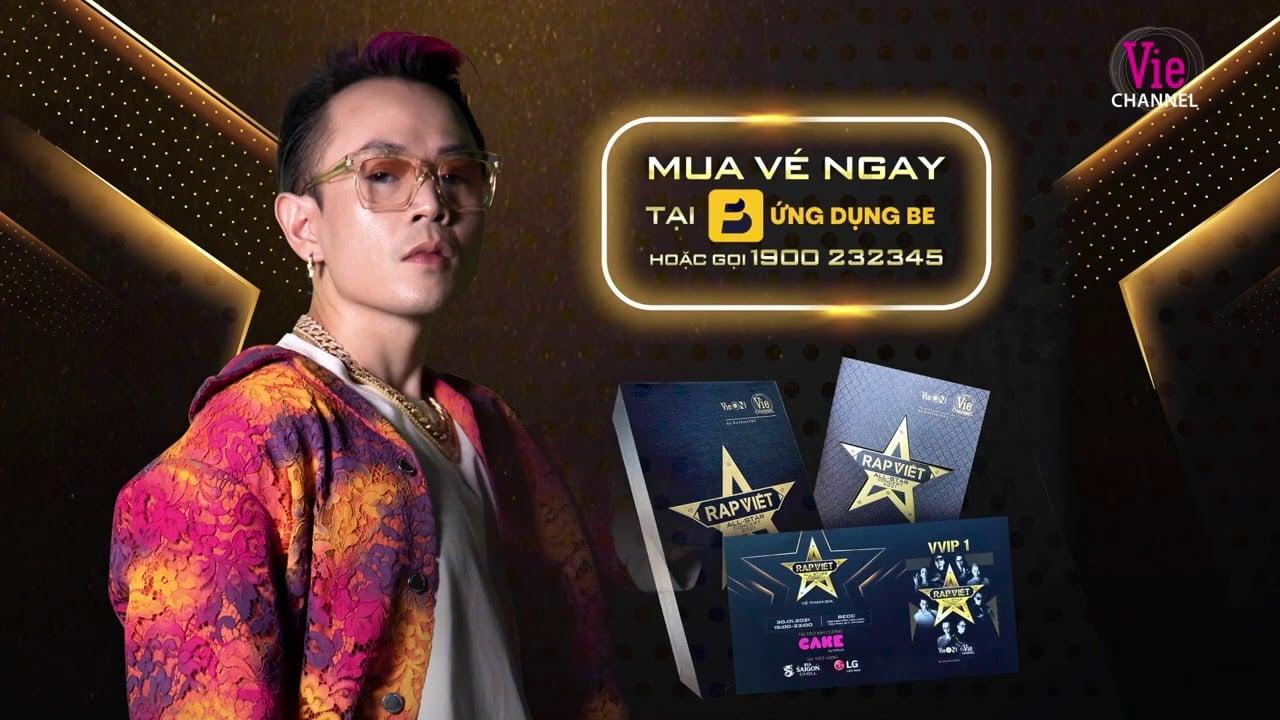 Các bước mua vé Rap Việt All-Star Concert trên ứng dụng Be