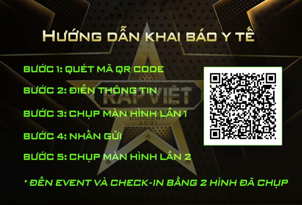 Hướng dẫn khai báo Y Tế tại Rap Việt All-Star Concert 2021