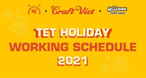 CRAFTVIET TET HOLIDAY WORKING SCHEDULE
