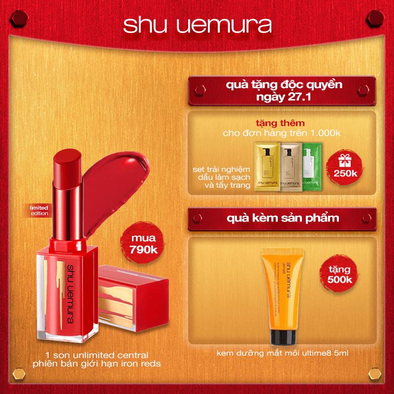 hannah set: [phiên bản giới hạn tết] son iron reds rouge unlimited central lipstick