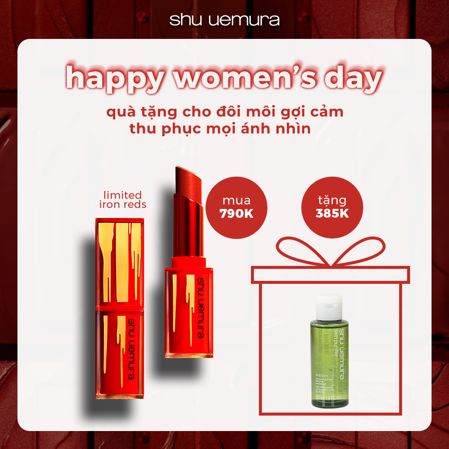 [phiên bản giới hạn Tết] son nhiều dưỡng chất iron reds rouge unlimited central lipstick