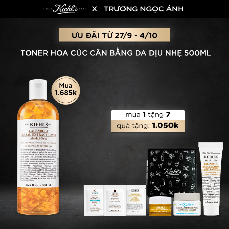 [TNA] Nước Cân Bằng Calendula Herbal Extract Alcohol-Free Toner 500ml