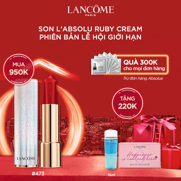 Set Son L'Absolu Rouge Ruby Cream Xmas 2020