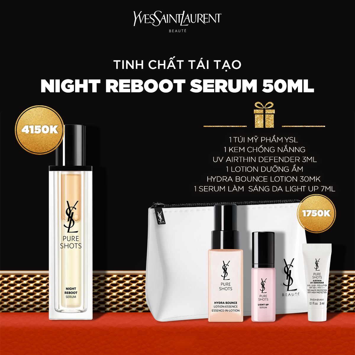 Set Pure Shots Night Reboot Serum 50ml
