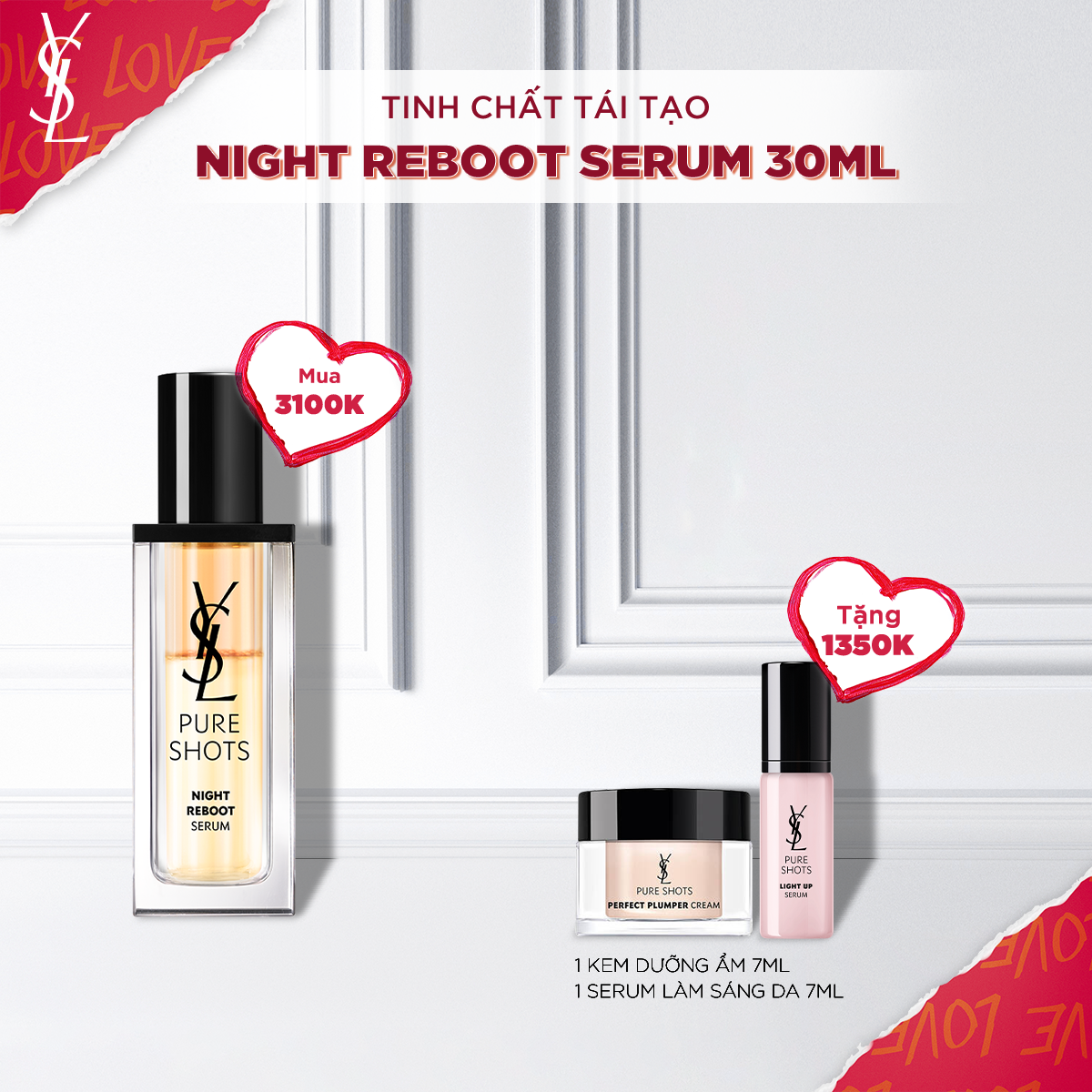Set Tinh Chất Pure Shots Night Reboot Serum