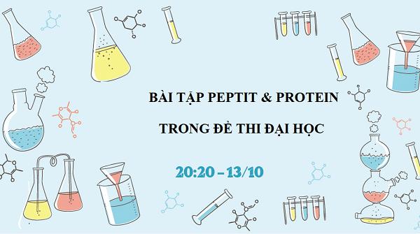 Bài tập peptit và protein trong đề thi Đại học những năm qua