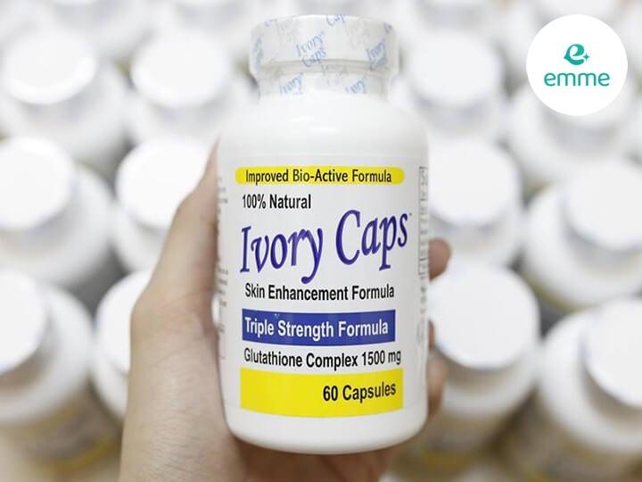 Viên uống trắng da Ivory Caps Mỹ