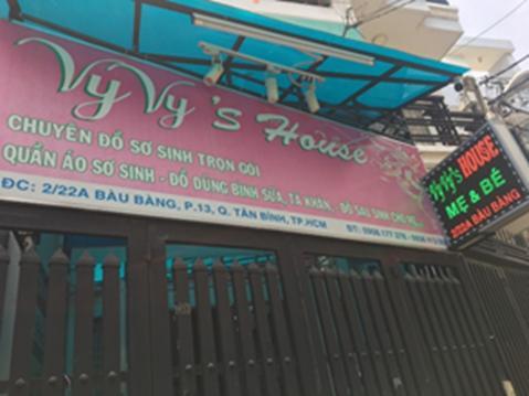Shop mẹ và bé Vy Vy's House 2/22A Bàu Bàng, Phường 13, Quận Tân Bình, Thành phố Hồ Chí Minh 0356 114 408