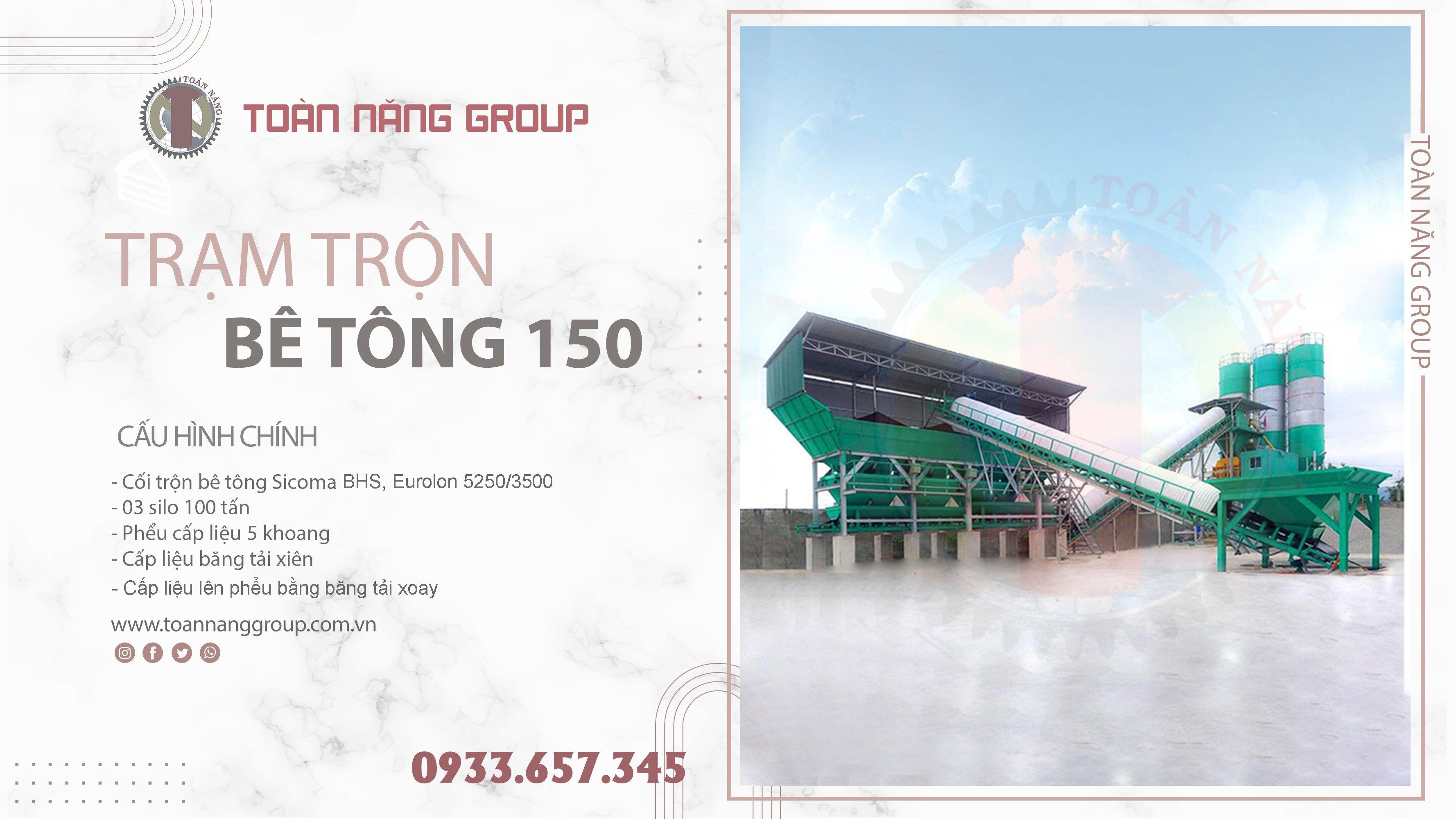 trạm trộn bê tông 150m3/h
